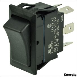 BEP DPDT Rocker Switch - On/Off/On
