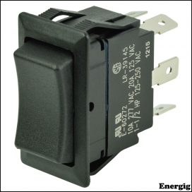 BEP DPDT Rocker Switch - (On)/Off/(On)