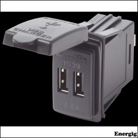 Blue Sea Systems 12/24VDC Dual USB 4.8A SwMnt