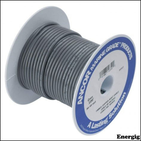 Ancor 1000ft Tinned Copper Wire 12 AWG (3mm²) Grey