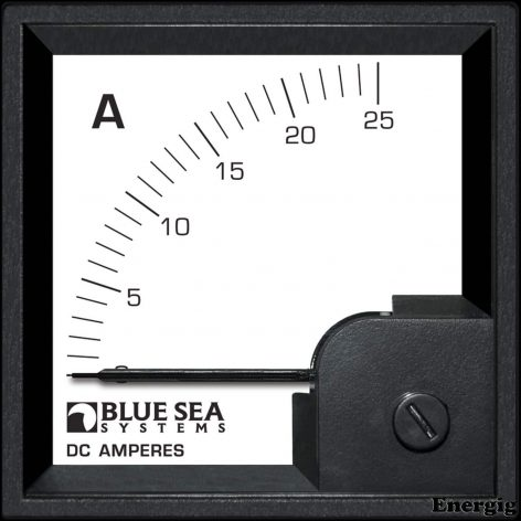 Blue Sea Systems DIN AMtr DC 0–25A w/internal Shunt