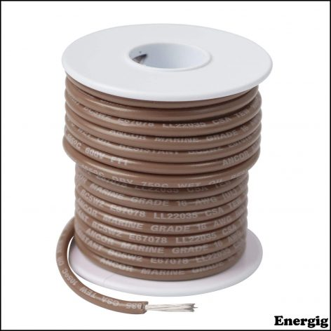 Ancor 250ft Tinned Copper Wire 12 AWG (3mm²) Tan