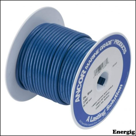 Ancor 25ft Tinned Copper Wire 12 AWG (3mm²) Blue