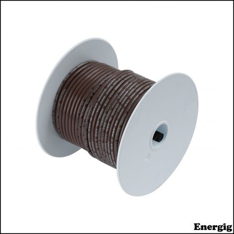 Ancor 100ft Tinned Copper Wire 12 AWG (3mm²) Brown
