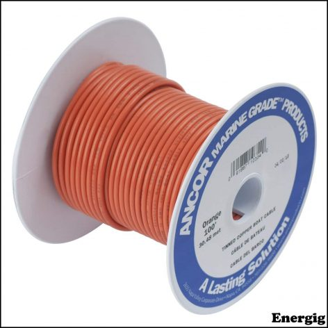 Ancor 25ft Tinned Copper Wire 12 AWG (3mm²) Orange