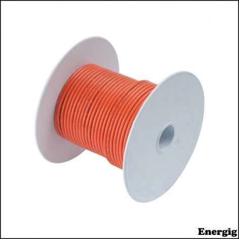 Ancor 100ft Tinned Copper Wire 12 AWG (3mm²) Orange
