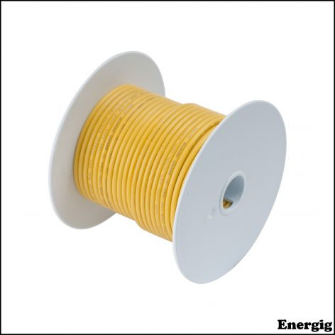Ancor 100ft Tinned Copper Wire 12 AWG (3mm²) Yellow
