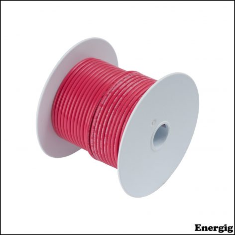 Ancor 25 ft Tinned Copper Battery Cable 4 AWG (21mm²) Red