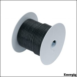 Ancor 25ft Tinned Copper Wire 0 AWG (53mm²) Black