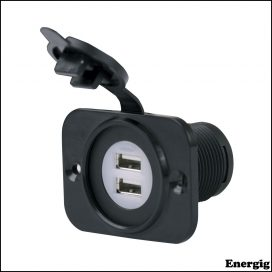 Marinco Dual USB Charger Receptacle 12-24V