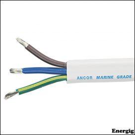 Ancor 500 ft Europæisk kode AC kabel 10/3 AWG (3x5mm²) Hvid