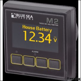 Blue Sea Systems Monitor M2 OLED DC Voltage