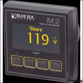 Blue Sea Systems Monitor M2 OLED AC Voltage