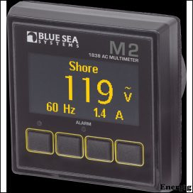 Blue Sea Systems Monitor M2 OLED AC Multimeter