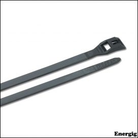 "Ancor 8"" Low Profile Self Cutting Cable Tie UV Black 20 pcs"