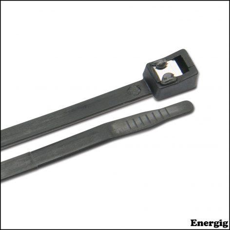 "Ancor 4"" Self Cutting Cable Tie UV Black 50 pcs"