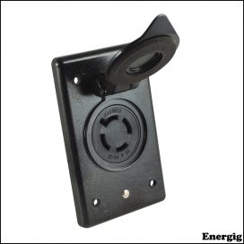 Marinco 4-Wire 12/24V Bass Boat Receptacle & Bracket