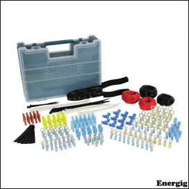 Ancor Electrical Repair Kit with Strip/Crimp Tool 225 pcs