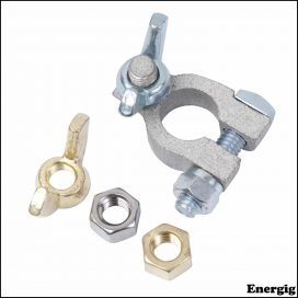 "Ancor. Tinned Brass Terminal Positive 3/8""(10 mm)"