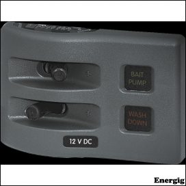 Blue Sea Systems Panel WD 12VDC Fused 2pos Gray