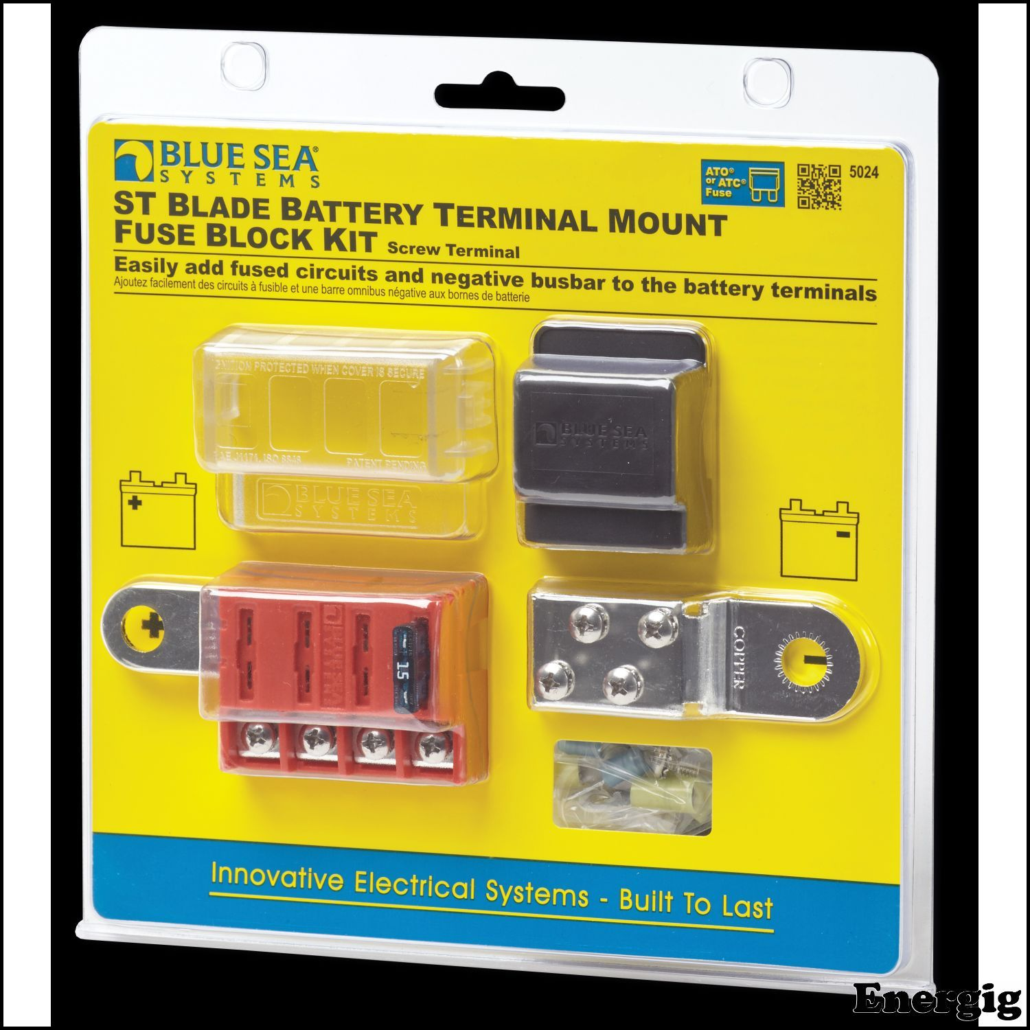 Battery Terminal Mount Fuse Block Blade Blue Sea Systems