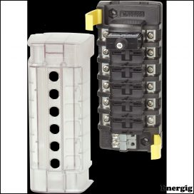 Blue Sea Systems circuit Breaker Block ST CLB 6circuit Ind