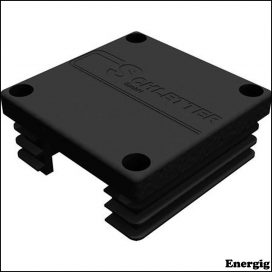 Schletter end piece for base profile - BLACK