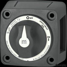 Blue Sea Systems m-Serie Mini On-Off Batteri afbryder med vrider - Sort
