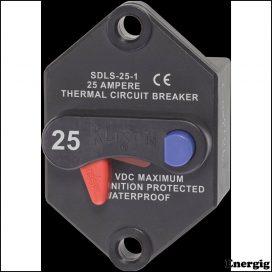 Blue Sea Systems circuit Breaker Klixon Panel 25A