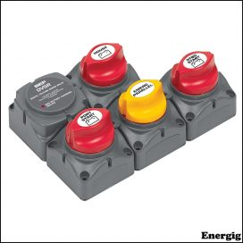 BEP Battery Distribution Cluster for Twin Inboard Engine with Three Battery Banks