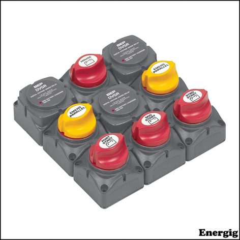 BEP Battery Distribution Cluster for Triple Outboard Engine with Four Battery Banks