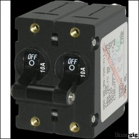 Blue Sea Systems circuit Breaker AA2Toggle 10A Black