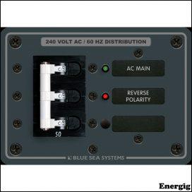 Blue Sea Systems Panel 120/240VAC Main 50A