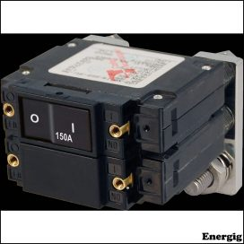 Blue Sea Systems circuit Breaker LC2 FLAT Rocker 150A