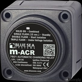 Blue Sea Systems m-Series Automatic Charging Relay - 12/24V DC 65A