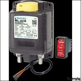 Blue Sea Systems ML-ACR Automatic Charging Relay with Manual Control - 12V DC 500A (incl 2146-BSS Switch)