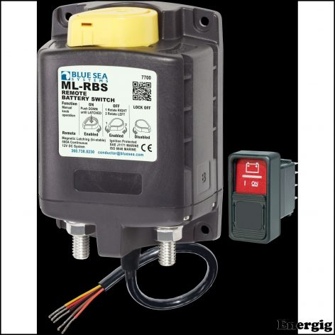 Blue Sea Systems ML-RBS Remote Battery Switch with Manual Control - 12V DC 500A (incl 2145 Switch)