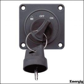 BEP fjernbetjening On/Off nøglekontakt til 701-MD og 720-MDO batteriafbrydere