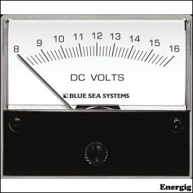 Blue Sea Systems DC Analog Voltmeter - 8 to 16V DC