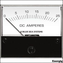 Blue Sea Systems DC Analog Ampere meter - 0 til 25A med Shunt