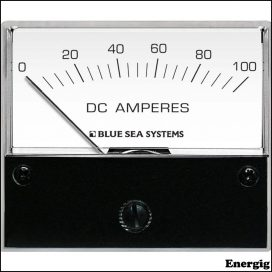 Blue Sea Systems DC Analog Ammeter - 0 til 100A med Shunt