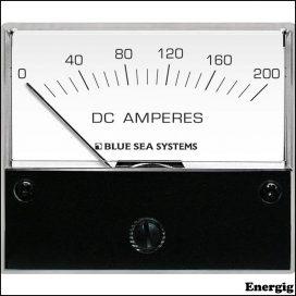 Blue Sea Systems DC Analog Ampere meter - 0 til 200A med Shunt