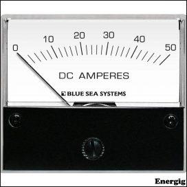 Blue Sea Systems DC Analog Ampere meter - 0 til 50A med Shunt
