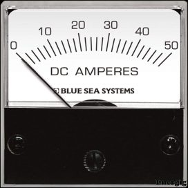 Blue Sea Systems DC Mikro Ampere meter - 0 til 50A med Shunt