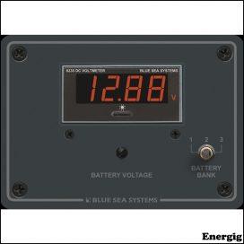 Blue Sea Systems Digital Voltmeter Panel - 7 to 60V DC