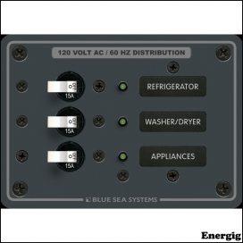 Blue Sea Systems Panel 120VAC 3 Positioner