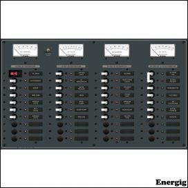 Blue Sea Systems AC Main (120V) + 8 Positions/DC Main (12V) + 29 Positions