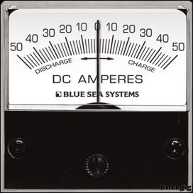 Blue Sea Systems DC Mikro Ampere meter - 50-0-50A med Shunt