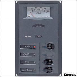 BEP AC kredsløbspanel med analoge målere