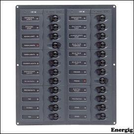 BEP DC Panel - 24-Way - No Meter - Vertical